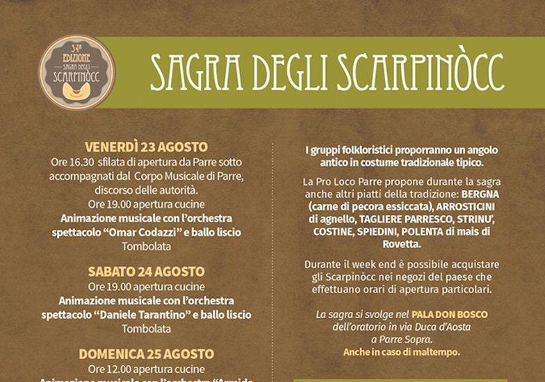 Daniele Tarantino Calendario Serate.Sagra Degli Scarpinocc Bergamo Avvenimenti